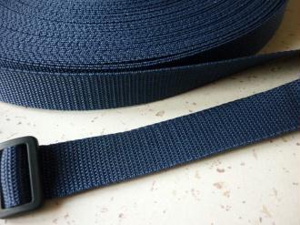 Sangle 25 mm polypropylène bleu marine - au mètre - résistante et  imputrescible