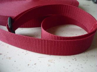 Sangle 25 mm polypropylène rouge - au mètre - résistante et  imputrescible