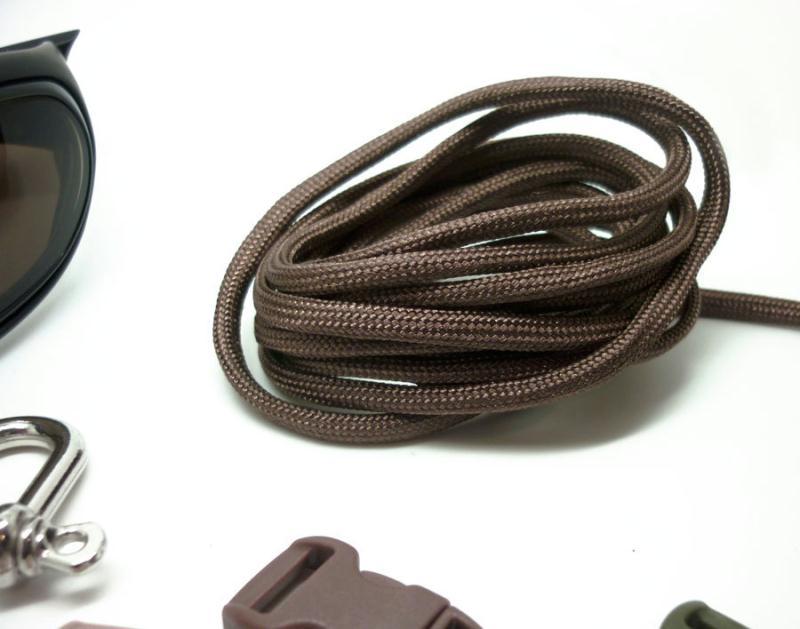 Paracorde 550 en 4 mm marron bracelet survie jardin for Au jardin conseils en jardinage