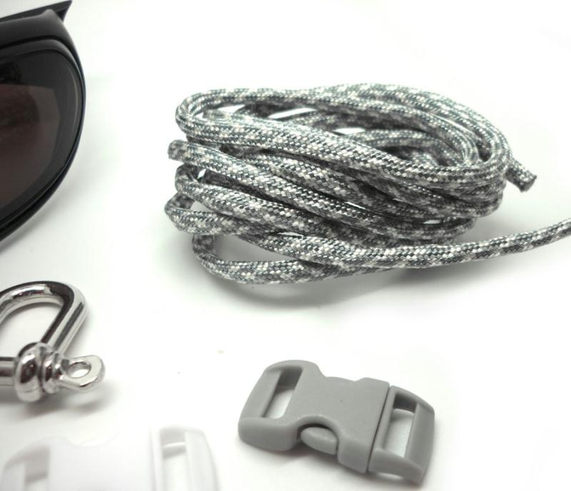 Paracorde 550 en 4 mm gris blanc bracelet survie for Au jardin conseils en jardinage