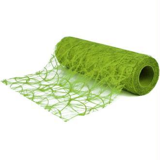 Chemin de table soie de fibre 30 cm vert clair rouleau 5 m