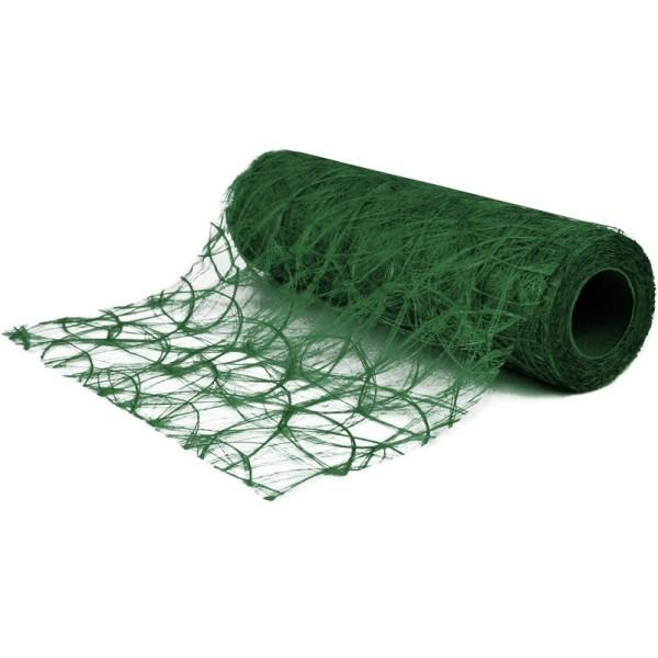 Chemin de table soie de fibre 30 cm vert foncé rouleau 5 m - Photo n°1