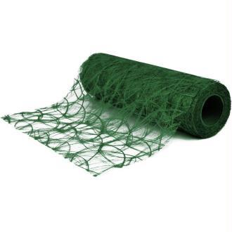 Chemin de table soie de fibre 30 cm vert foncé rouleau 5 m