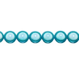 10x perles Magiques Rondes 8mm TURQUOISE