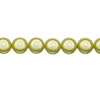 10x perles Magiques Rondes 8mm JAUNE
