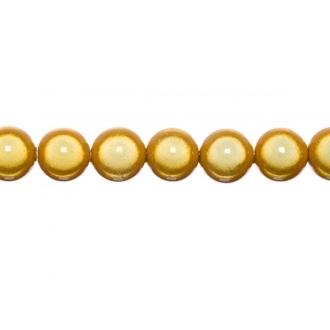 10x perles Magiques Rondes 8mm GOLD