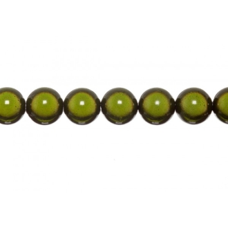 10x perles Magiques Rondes 6mm VERT KHAKI