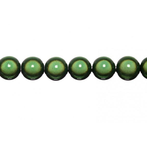 10x perles Magiques Rondes 12mm VERT MOUSSE - Photo n°1