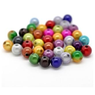 10x perles Magiques Rondes 4mm ASSORTIMENT