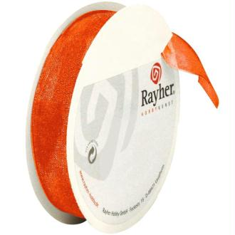 Ruban en organdi 15 mm orange x 10 m