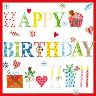 Serviette en papier Enfants Happy Birthday