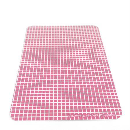 Planche de 10 stickers carreaux classiques rose foncé fond blanc - La demoiselle de papier