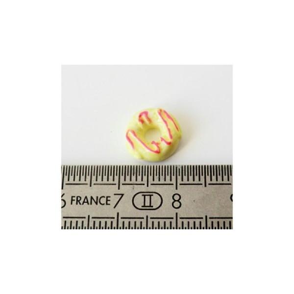 Cabochon Donut 10mm ROSE/BLEU - Photo n°2