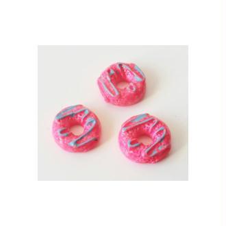 Cabochon Donut 10mm ROSE ELECTRIQUE