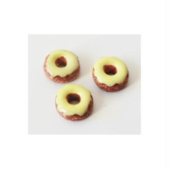 Cabochon Donut 10mm Glaçage VANILLE