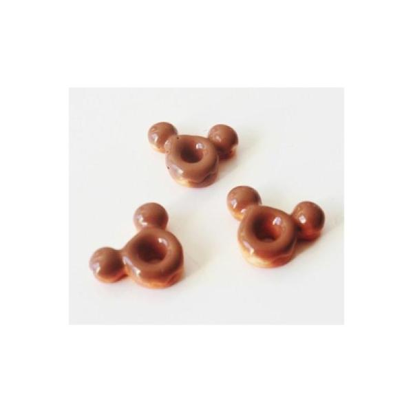 Cabochon Donut 10mm Glaçage CHOCO - Photo n°1