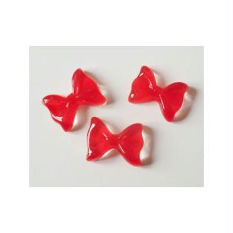 Cabochon Noeud 12x9mm JELLY ROUGE