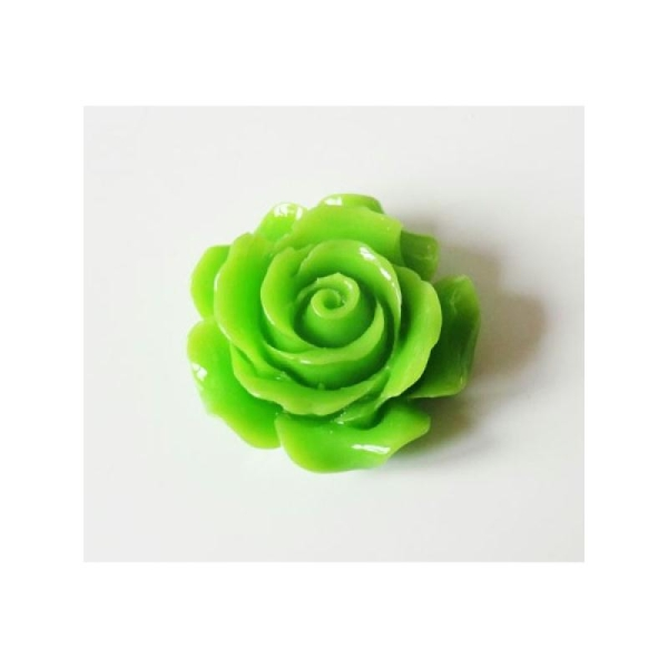 1x Cabochon Rose 30mm VERT - Photo n°1