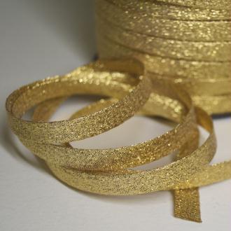 Biais lurex or, biais couture doré de belle qualité - monpatroncouture