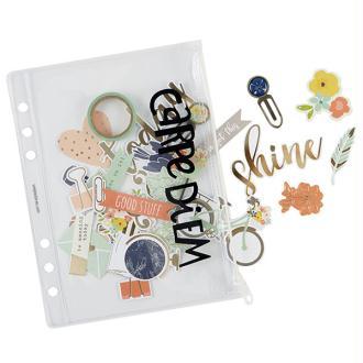 Pochette de rangement plastique pour planner a5 simple stories carpe diem transparent