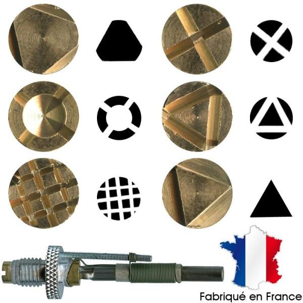 Pointe pyrogravure F21 et marques à chaud motifs 1 à 6 - Photo n°1