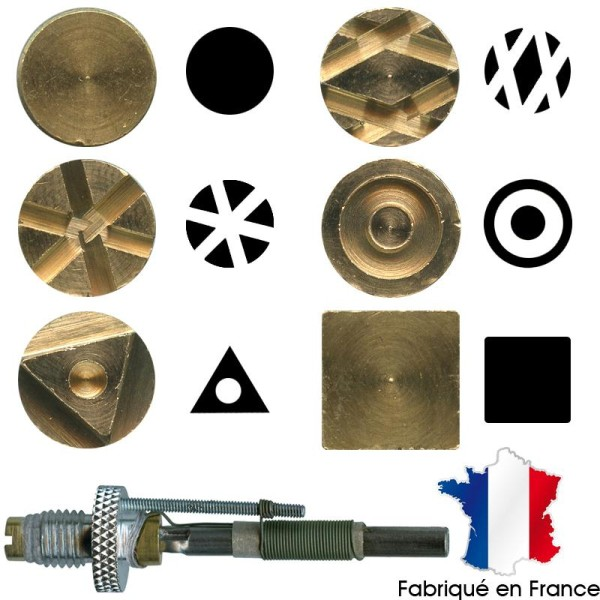 Pointe pyrogravure F21 et marques à chaud motifs 7 à 12 - Photo n°1