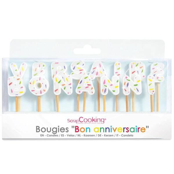 Bougies Gateau Bon Anniversaire X 15 Bougies Anniversaire Creavea