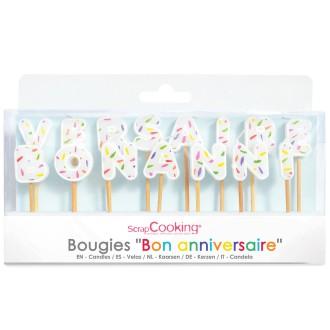 bougies gâteau Bon anniversaire x 15