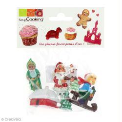 Décoration gâteau de Noël x 4