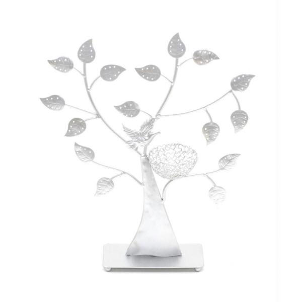 Porte bijoux arbre à boucle d'oreille oiseau (50 paires) - Photo n°3