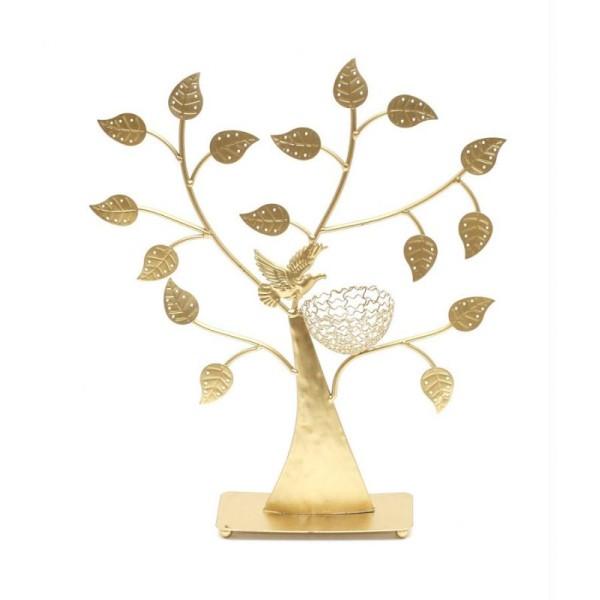 Porte bijoux arbre à boucle d'oreille oiseau (50 paires) - Photo n°1