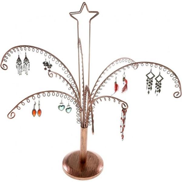 Porte bijoux arbre à boucle d'oreille (90 paires) Cuivre - Photo n°2
