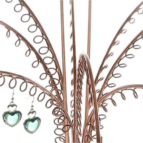Porte bijoux arbre à boucle d'oreille (90 paires) Cuivre - Photo n°3