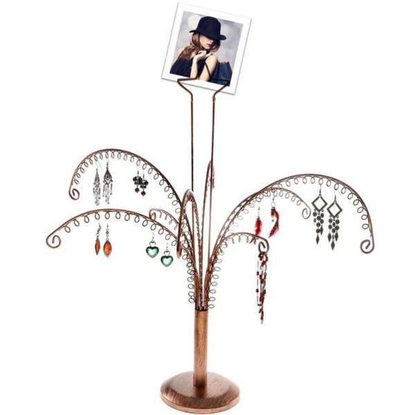 Porte bijoux arbre à boucle d'oreille (90 paires) Cuivre - Photo n°4