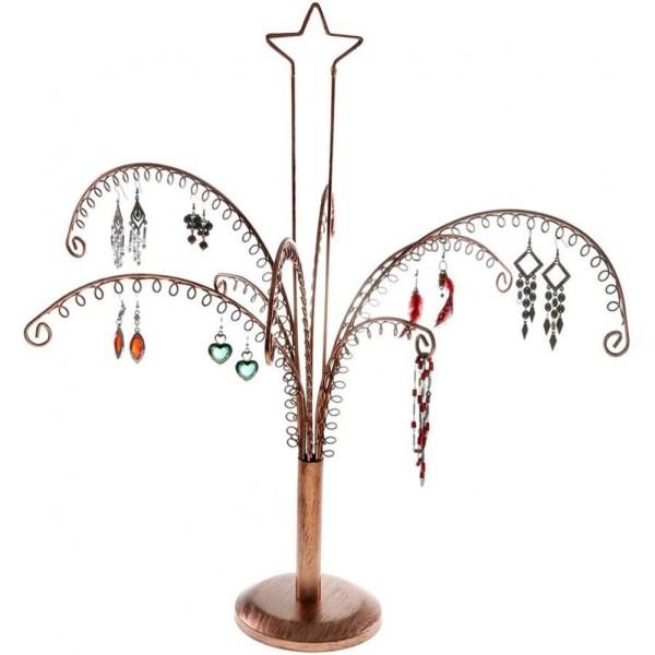 Porte bijoux arbre à boucle d'oreille (90 paires) Cuivre - Photo n°1