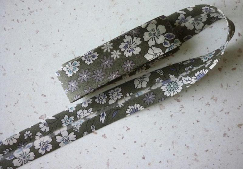 Biais 20 mm kaki blanc cass gris fleuri liberty voile coton japonais fin vente au m tre - Voile de forcage au metre ...