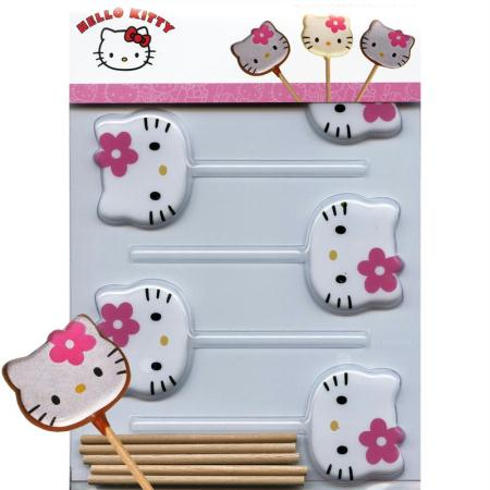moule sucettes hello kitty en chocolat moule sucette. Black Bedroom Furniture Sets. Home Design Ideas