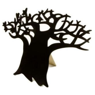 Ardoise bois marque menu / message arbre