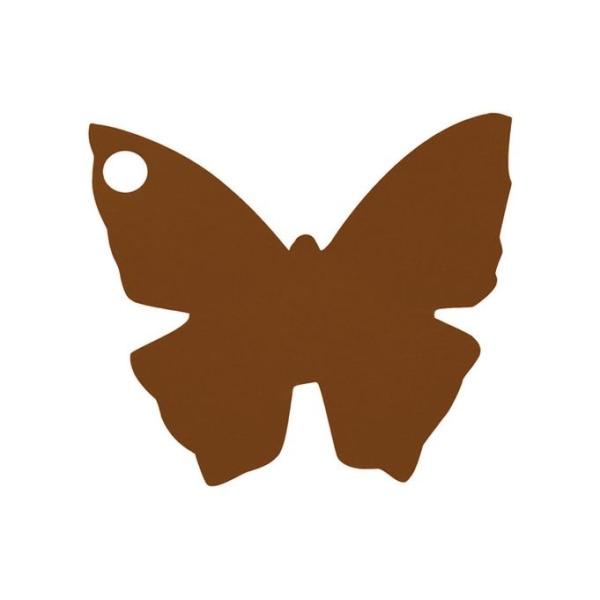 Etiquette porte nom papillon chocolat x10 - Photo n°1