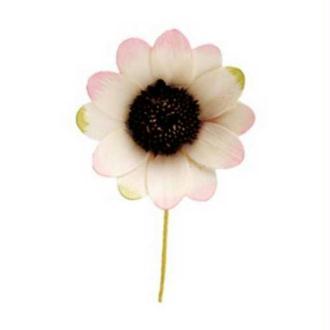 Mini fleur en bois x2 Bord vert