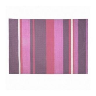 Set de table PVC rayé violet - prune Lot de 4