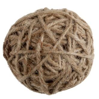 Assortiment de 10 boules en corde naturelle