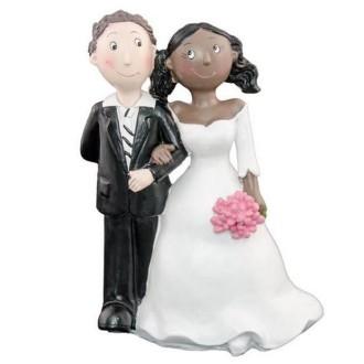Figurine couple mixte MrsN-MB 15cm