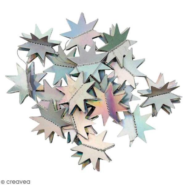 Guirlande d'étoiles grises irisées Paper Poetry - 1,3 mètre - Photo n°1