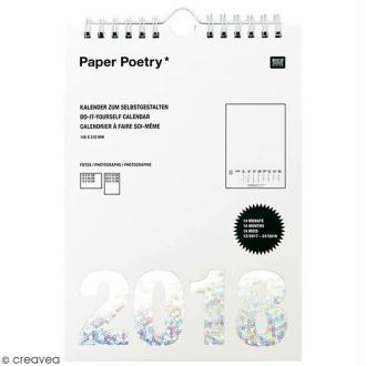 Calendrier 2018 Blanc à décorer Paper Poetry - Format A5