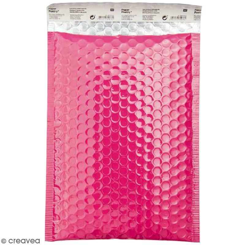 enveloppe bulles b5 fuchsia enveloppe cadeau creavea. Black Bedroom Furniture Sets. Home Design Ideas