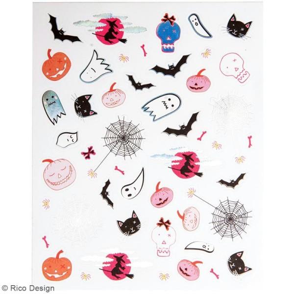Stickers métallisés Halloween - 260 pcs - Photo n°3