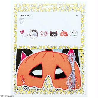 Masques Halloween - Paper Poetry - 6 pcs