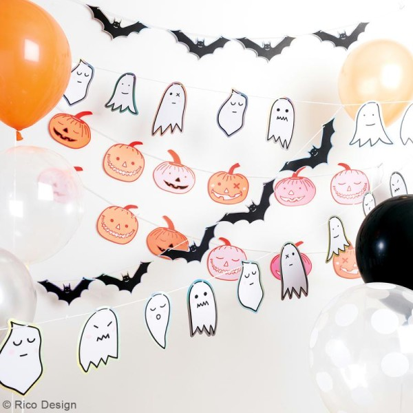 Bloc papier scrap à motifs Halloween - Irisé et Neon - A4 - 30 pcs - Photo n°2
