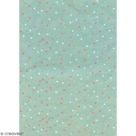 Papier Paper Patch - Pois irisés et fluo - 30 x 40 cm - Photo n°2